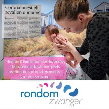 """Haarlems Dagblad: """"Corona-angst bij bevallen onnodig"""""""
